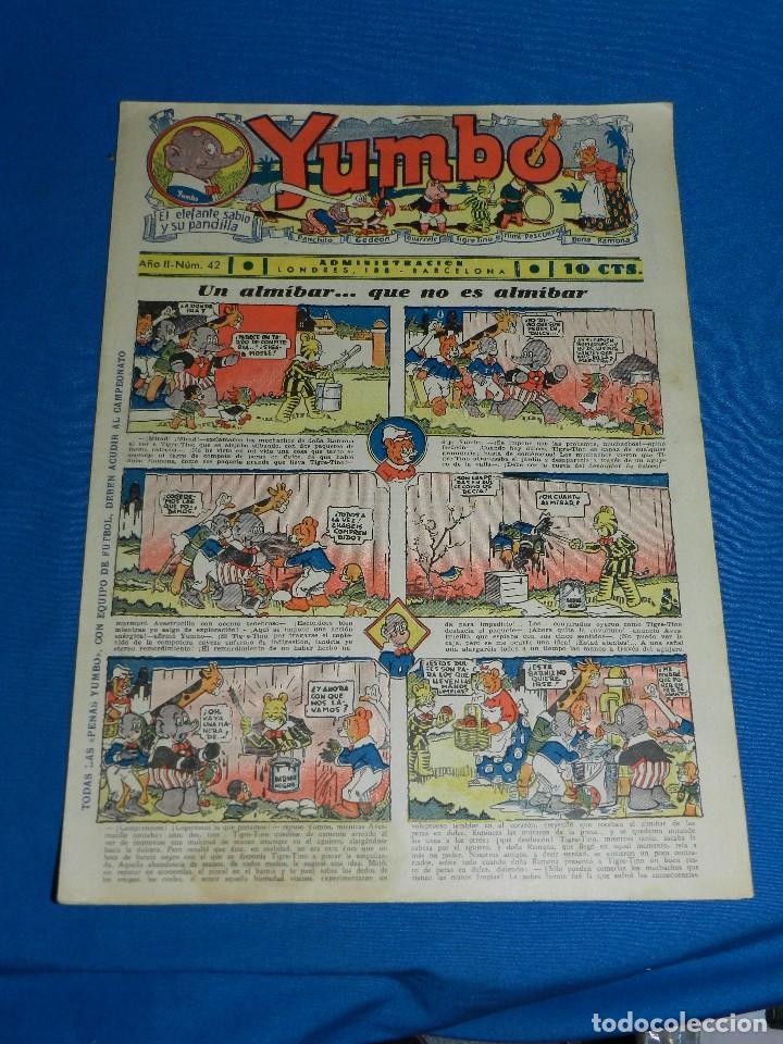 (M2) YUMBO NUM 42 , AÑO II - EDT HISPANO AMERICANA, SEÑALES DE USO (Tebeos y Comics - Hispano Americana - Yumbo)