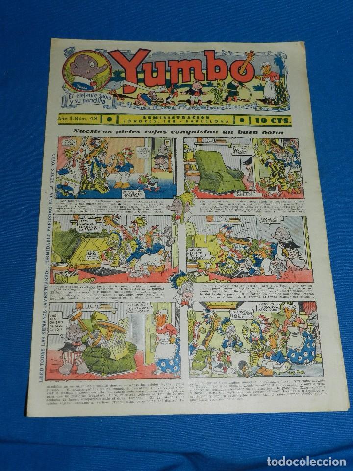 (M2) YUMBO NUM 43 , AÑO II - EDT HISPANO AMERICANA, SEÑALES DE USO (Tebeos y Comics - Hispano Americana - Yumbo)