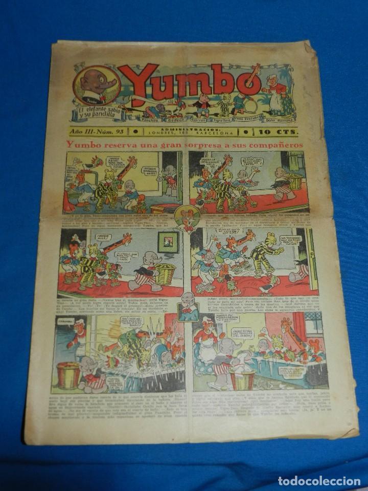 (M2) YUMBO NUM 93 , AÑO III - EDT HISPANO AMERICANA, SEÑALES DE USO (Tebeos y Comics - Hispano Americana - Yumbo)