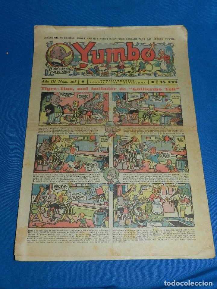 (M2) YUMBO NUM 105 , AÑO III - EDT HISPANO AMERICANA, SEÑALES DE USO (Tebeos y Comics - Hispano Americana - Yumbo)