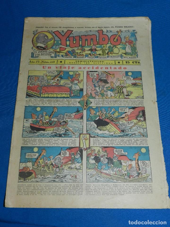(M2) YUMBO NUM 118 , AÑO IV - EDT HISPANO AMERICANA, SEÑALES DE USO (Tebeos y Comics - Hispano Americana - Yumbo)