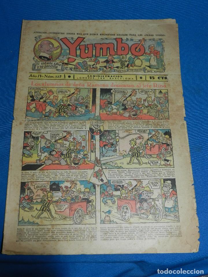 (M2) YUMBO NUM 123 , AÑO IV - EDT HISPANO AMERICANA, SEÑALES DE USO (Tebeos y Comics - Hispano Americana - Yumbo)