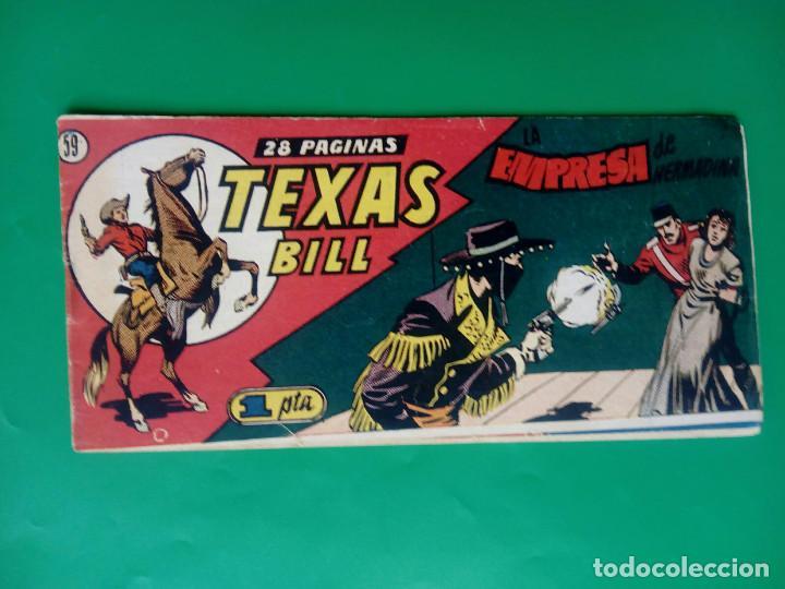 TEXAS BILL Nº 59 - HISP. AMER. DE EDIC. - ORIGINAL ( M-3) (Tebeos y Comics - Hispano Americana - Otros)