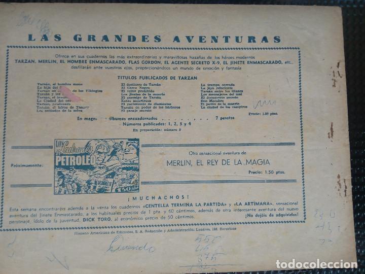 Tebeos: TARZAN EL HOMBRE MONO - HISP. AMER. DE EDIC - ORIGINAL 1949 ( M 3 ) - Foto 2 - 128204219
