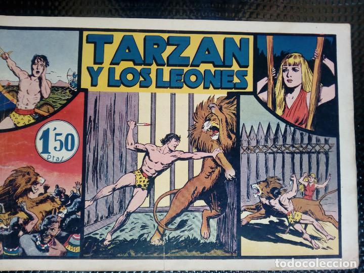 TARZAN Y LOS LEONES - HISP. AMER. DE EDIC - ORIGINAL 1949 ( M 3 ) (Tebeos y Comics - Hispano Americana - Tarzán)