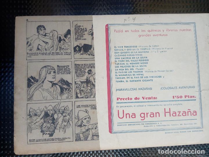 Tebeos: TARZAN Y LOS LEONES - HISP. AMER. DE EDIC - ORIGINAL 1949 ( M 3 ) - Foto 2 - 128206507
