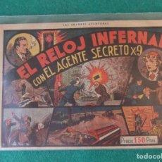 Tebeos: EL RELOJ INFERNAL CON EL AGENTE SECRETO X-9 HISPANO AMERICANA DE EDICIONES. Lote 128421535