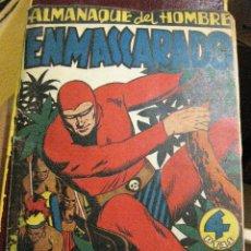 Tebeos: ALMANAQUE EL HOMBRE ENMASCARADO 1947. HISPANOAMERICANA DE EDICIONES .TAPAS DURAS ORIGINAL. Lote 128784107