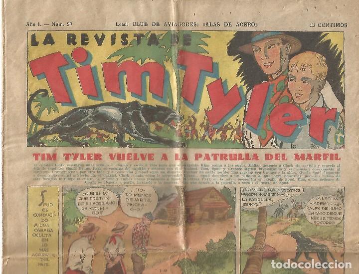 LA REVISTA DE TIM TYLER AÑO I NÚM 27 1936 EDITORIAL HISPANO AMERICANA ORIGINAL (Tebeos y Comics - Hispano Americana - Tim Tyler)