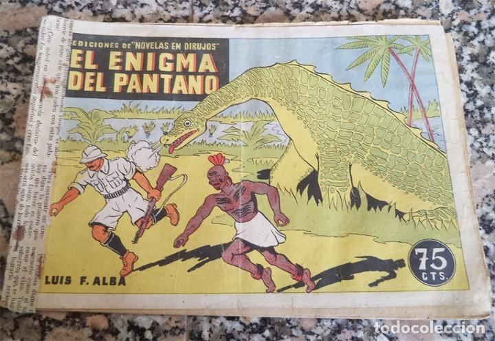 EL ENIGMA DEL PANTANO MIRALLES 1942 COL. NOVELAS EN DIBUJOS ORIGINAL EPOCA 75 CTS. (Tebeos y Comics - Hispano Americana - Capitán Marvel)