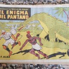 Tebeos: EL ENIGMA DEL PANTANO MIRALLES 1942 COL. NOVELAS EN DIBUJOS ORIGINAL EPOCA 75 CTS. . Lote 130364994