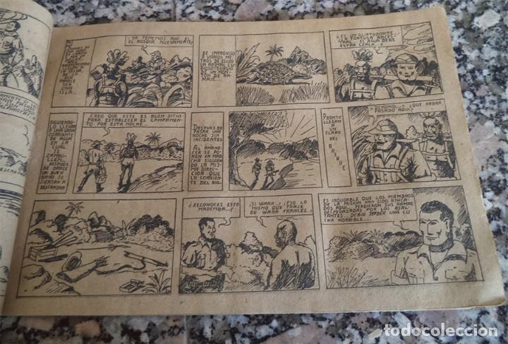 Tebeos: EL ENIGMA DEL PANTANO MIRALLES 1942 COL. NOVELAS EN DIBUJOS ORIGINAL EPOCA 75 Cts. - Foto 3 - 130364994