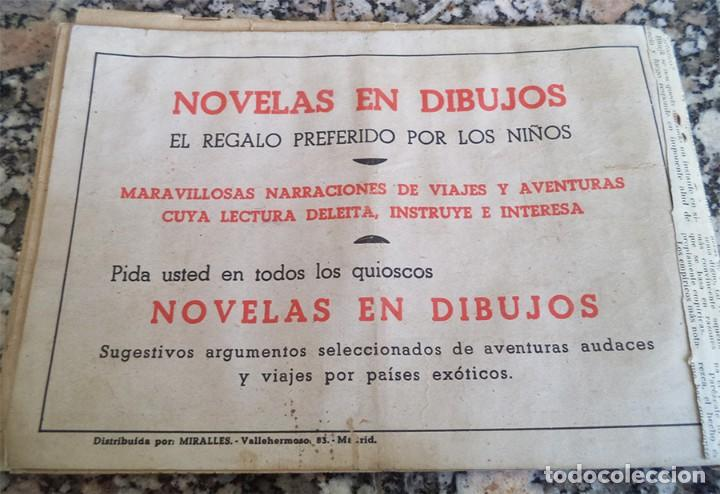 Tebeos: EL ENIGMA DEL PANTANO MIRALLES 1942 COL. NOVELAS EN DIBUJOS ORIGINAL EPOCA 75 Cts. - Foto 6 - 130364994