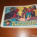 Tebeos: EL JUSTICIERO ENMASCARADO--ORIGINAL COMPLETA--. Lote 132183454