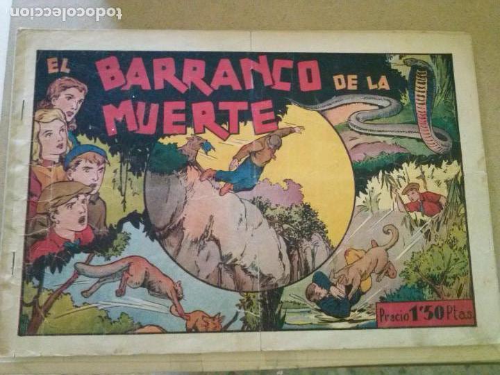 JUAN Y LUIS Nº 6 , EL BARRANCO DE LA MUERTE HISPANO AMERICANA , (Tebeos y Comics - Hispano Americana - Merlín)