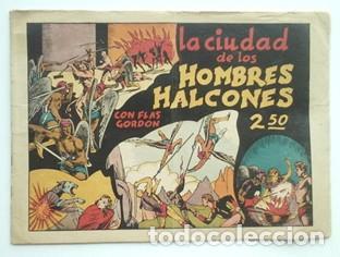 FLAS GORDON LA CIUDAD DE LOS HOMBRES HALCONES- 1942- Nº 2- EDIT HISPANO AMERICANA (Tebeos y Comics - Hispano Americana - Flash Gordon)
