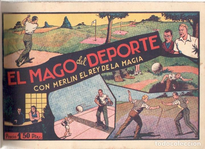 Tebeos: NUMULITE L0376 Merlin el mago 6 comics El monstruo de las dos cabezas El mago del deporte merlin el - Foto 2 - 134152150