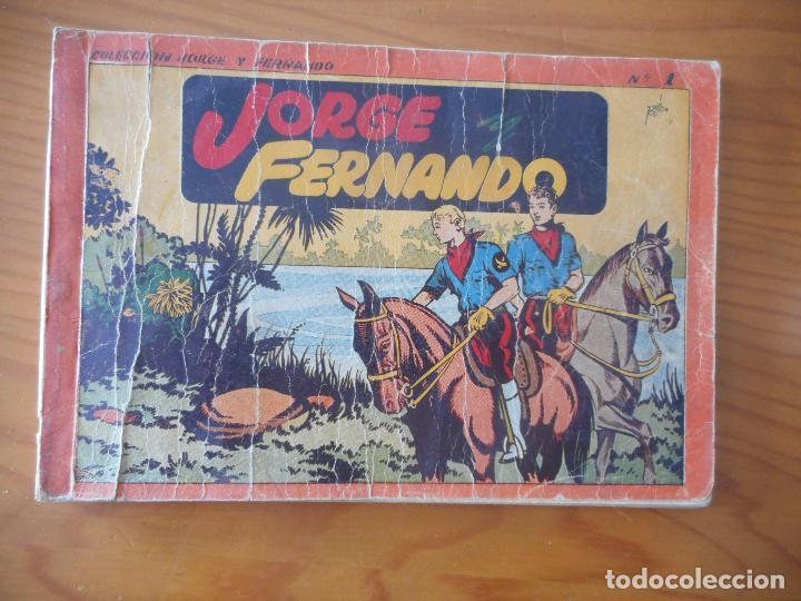 JORGE Y FERNANDO. ALBUM ROJO Nº 1. EDITORIAL HISPANO AMERICANA 1944 (Tebeos y Comics - Hispano Americana - Jorge y Fernando)