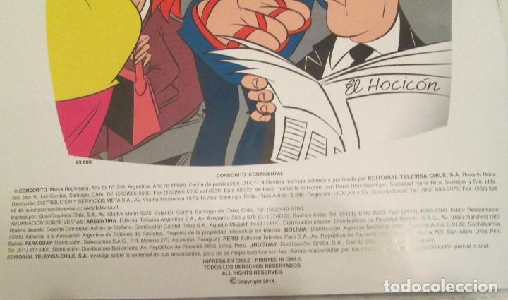 Tebeos: Ejemplar de Condorito. Editorial Televisa Chile. Año 59 Nº 736, publicado el 01/07/2014 - Foto 4 - 135783758