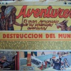 Tebeos: (COM-181090)LOTE DE 53 EJEMPLARES DEL AVENTURERO - LA DESTRUCCION DEL MUNDO. Lote 137881850