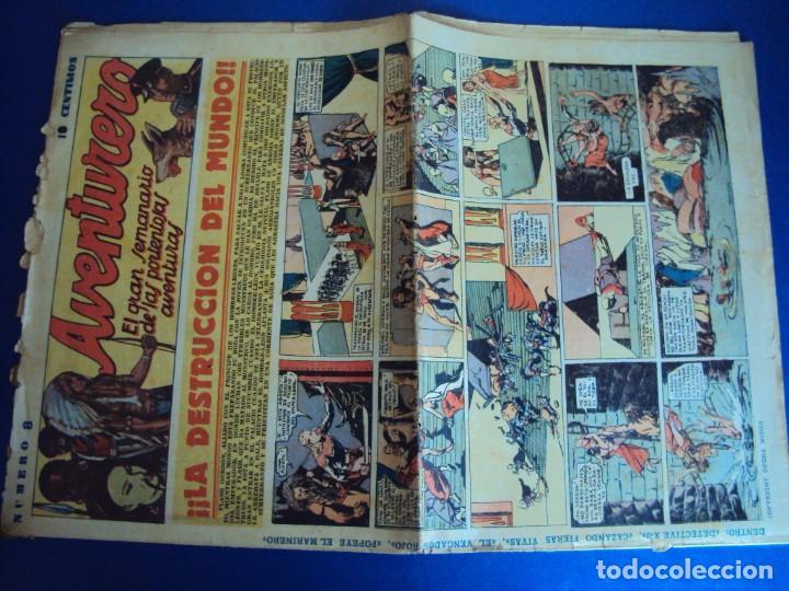 Tebeos: (COM-181090)LOTE DE 53 EJEMPLARES DEL AVENTURERO - LA DESTRUCCION DEL MUNDO - Foto 2 - 137881850