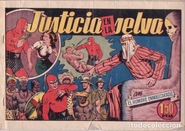 EL HOMBRE ENMASCARADO Nº 26: JUSTICIA EN LA SELVA. HISPANOAMERICANA DE EDICIONES. AÑOS 40 (Tebeos y Comics - Hispano Americana - Hombre Enmascarado)