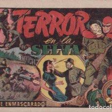 Tebeos: EL HOMBRE ENMASCARADO Nº 50: TERROR EN LA SELVA. HISPANOAMERICANA DE EDICIONES. AÑOS 40. Lote 138903562