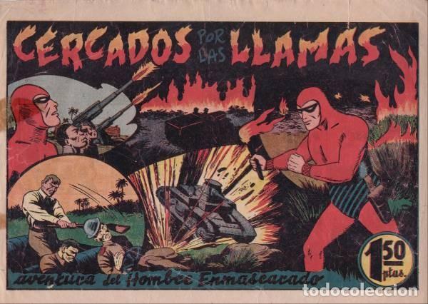 EL HOMBRE ENMASCARADO Nº 55: CERCADOS POR LAS LLAMAS. HISPANOAMERICANA DE EDICIONES. AÑOS 40 (Tebeos y Comics - Hispano Americana - Hombre Enmascarado)