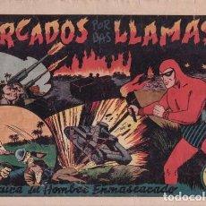 Tebeos: EL HOMBRE ENMASCARADO Nº 55: CERCADOS POR LAS LLAMAS. HISPANOAMERICANA DE EDICIONES. AÑOS 40. Lote 138903870