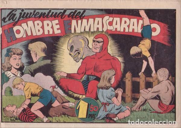 EL HOMBRE ENMASCARADO 37: LA JUVENTUD DEL HOMBRE ENMASCARADO. HISPANOAMERICANA DE EDICIONES. AÑOS 40 (Tebeos y Comics - Hispano Americana - Hombre Enmascarado)