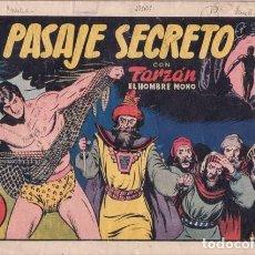 Tebeos: TARZÁN EL HOMBRE MONO Nº 18: EL PASAJE SECRETO. HISPANO AMERICANA DE EDS. AÑOS 40. FOTO DE ZARRA. Lote 138908638