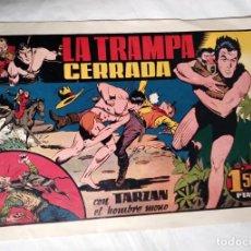 Tebeos: AVENTURAS DE TARZAN EL HOMBRE MONO Nº 19 LA TRAMPA CERRADA HISPANO AMERICANA AÑO 1942, ORIGINAL. Lote 140051266