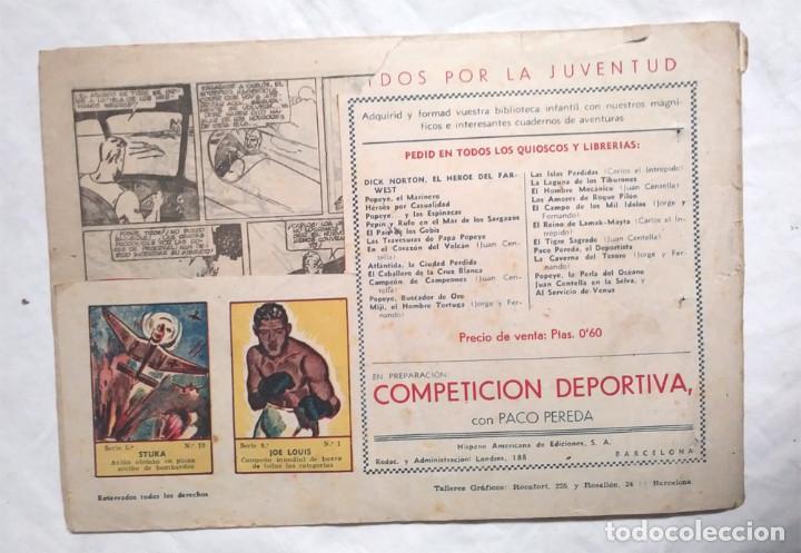 Tebeos: Carlos el Intrépido Nº 3, Tizoc el Ttirano Editorial Hispano Americana año 1942 - Foto 2 - 140052226