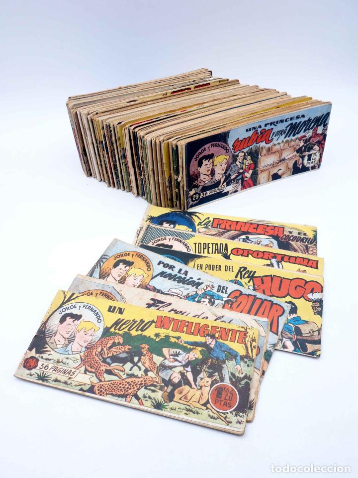 JORGE Y FERNANDO LOTE DE 75 NÚMEROS. VER LISTA (LYMAN YOUNG) HISPANO AMERICANA, 1949 (Tebeos y Comics - Hispano Americana - Jorge y Fernando)