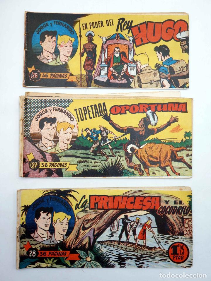 Tebeos: JORGE Y FERNANDO LOTE DE 75 NÚMEROS. VER LISTA (Lyman Young) Hispano Americana, 1949 - Foto 3 - 140752258