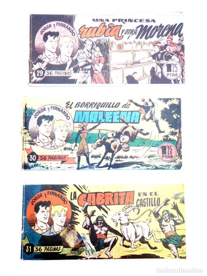 Tebeos: JORGE Y FERNANDO LOTE DE 75 NÚMEROS. VER LISTA (Lyman Young) Hispano Americana, 1949 - Foto 4 - 140752258