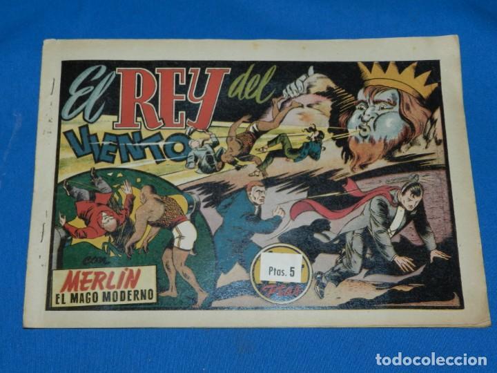 (M1) MERLIN EL REY DE LA MAGIA NUM 23 - HISPANO AMERICANA , SEÑALES DE USO , ROTURITAS EN EL LOMO (Tebeos y Comics - Hispano Americana - Merlín)