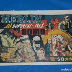 Tebeos: (M1) MERLIN EL REY DE LA MAGIA NUM 20 - HISPANO AMERICANA , SEÑALES DE USO NORMALES. Lote 141324794