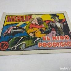 Tebeos: MERLÍN.EL NIÑO PRODIGIO.. Lote 141790246