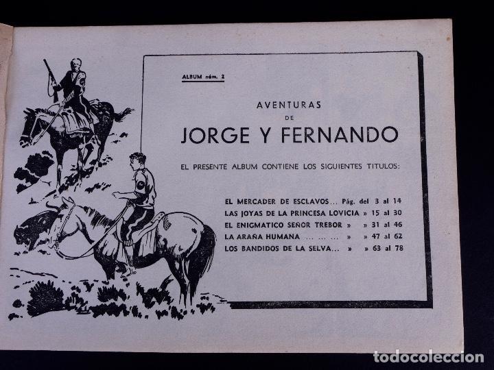 Tebeos: JORGE Y FERNANDO Nº 2. BARCELONA 1940 - Foto 2 - 142094590