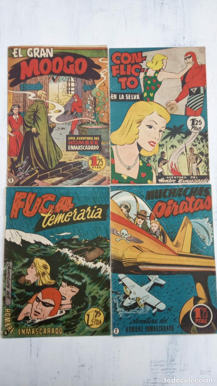 EL HOMBRE ENMASCARADO ORIGINAL HISPANO AMERICANA - LOTE NºS 2,4,9,13 (Tebeos y Comics - Hispano Americana - Hombre Enmascarado)