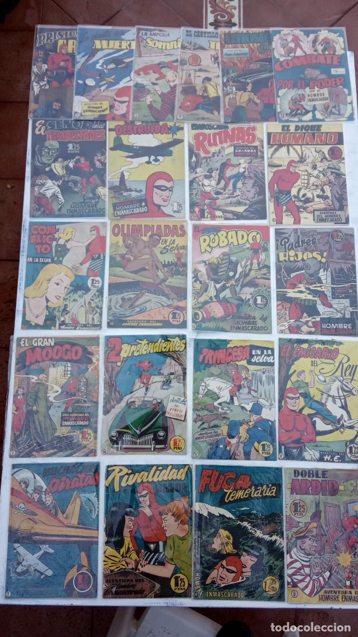 EL HOMBRE ENMASCARADO ORIGINAL - LOTE - 37,30,29,28,25,22,21,20,19,18,17,16,15,13,12,11,10,9,6,4,3,2 (Tebeos y Comics - Hispano Americana - Hombre Enmascarado)