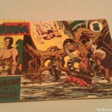 Tebeos: YORGA NÚM. 2 ORIGINAL. EL DOMINADOR DE LA SELVA. HISPANO AMERICANA. 1950. 1 PTA.. Lote 143278174