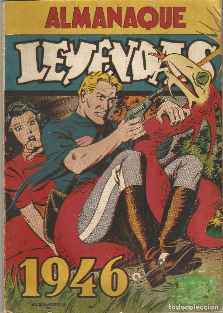 COMIC ALMANAQUE 1946 LEYENDAS DICK NORTON KAOR LA GUARDIA MOVIL ED HISPANO AMERICANA MBE (Tebeos y Comics - Hispano Americana - Leyendas Infantiles)