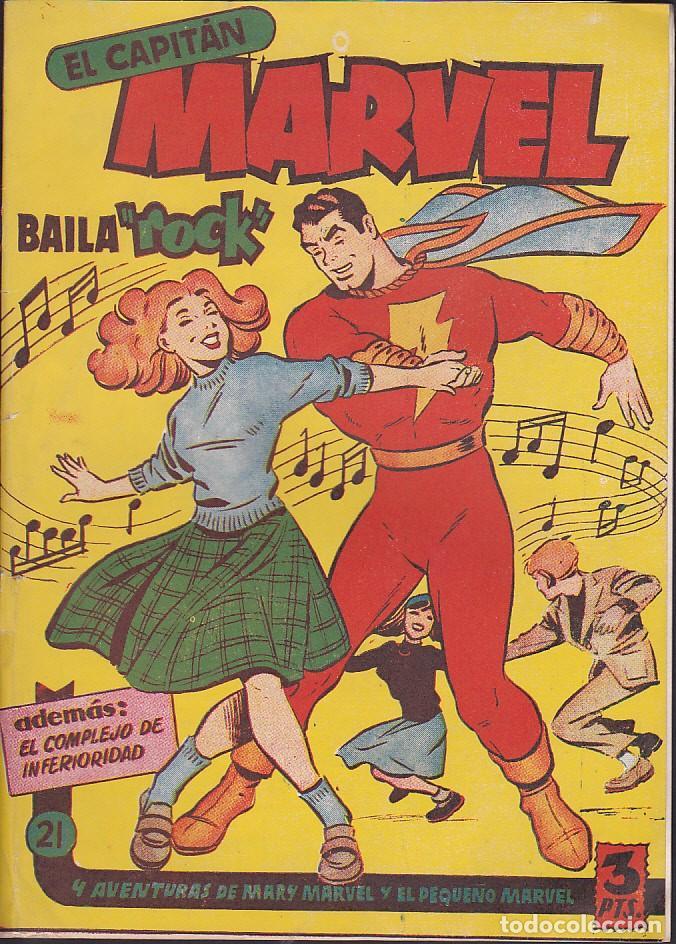 COMIC ORIGINAL COLECCION EL CAPITAN MARVEL Nº 21 EDITORIAL HISPANO AMERICANA (Tebeos y Comics - Hispano Americana - Capitán Marvel)