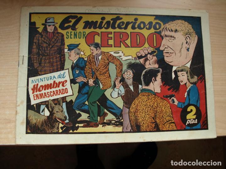AVENTURA DEL HOMBRE ENMASCARADO - EL MISTERIOSO SEÑOR CERDO - PRECIO 2 PESETAS - HISPANO (Tebeos y Comics - Hispano Americana - Hombre Enmascarado)