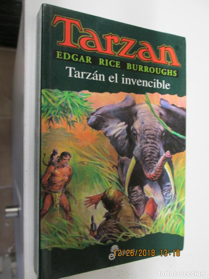 TARZAN - EDGAR RICE BURROUGHS - TARZÁN EL INVECIBLE Nº 14 - EDHASA 1995. (Tebeos y Comics - Hispano Americana - Tarzán)