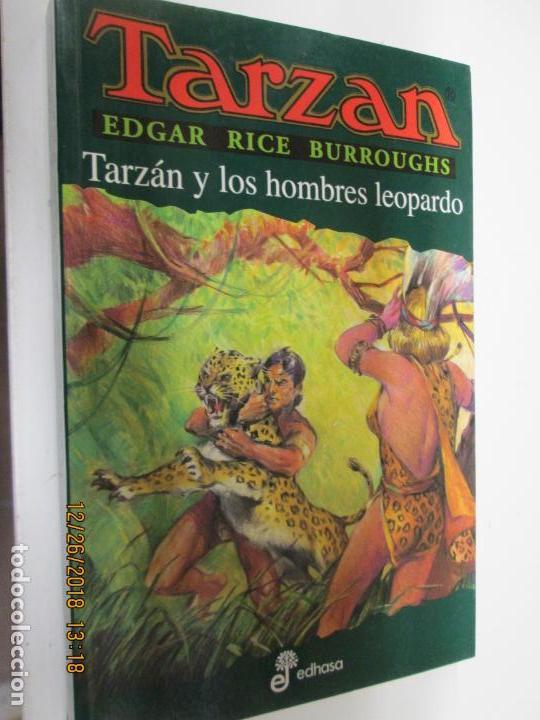 TARZAN - EDGAR RICE BURROUGHS - TARZÁN Y LOS HOMBRES LEOPARDOS Nº 18 - EDHASA 1995. (Tebeos y Comics - Hispano Americana - Tarzán)
