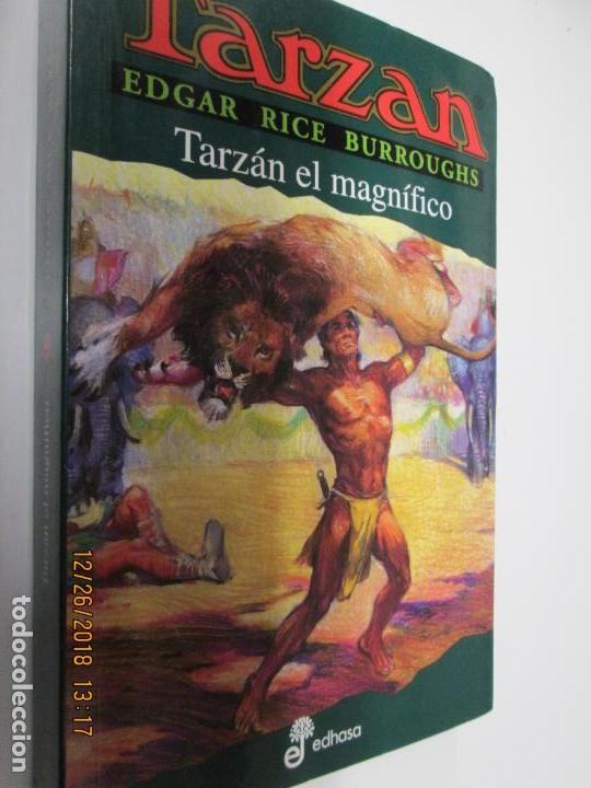 TARZAN - EDGAR RICE BURROUGHS - TARZÁN EL MAGNIFICO Nº 21 - EDHASA 1995. (Tebeos y Comics - Hispano Americana - Tarzán)