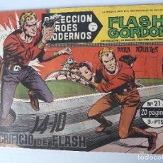 Tebeos: FLASH CORDON Nº 21 AÑO 1958 ( SACRIFICIO DE FLASH ). Lote 145192430